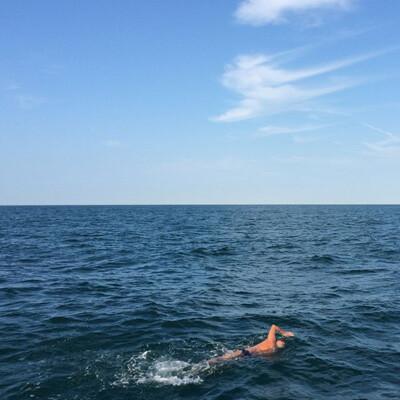 Karteek Clarke, Channel Swimmer