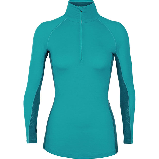 Women's Icebreaker Zone Half Zip Long Sleeve Tee