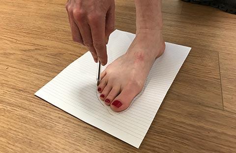 Measuring foot