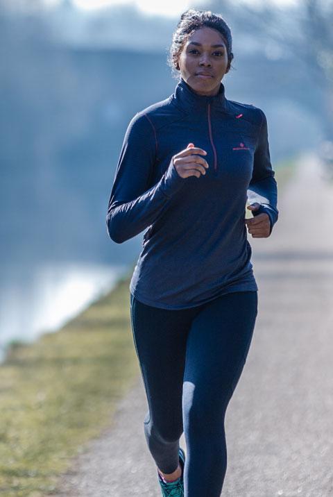 Women's Ronhill Stride Matrix Half Zip Long Sleeve