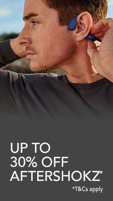 Up to 30% off Aftershokz. T&Cs apply.