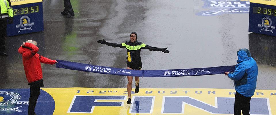 """2018 Boston Marathon Desiree """"Desi"""" Linden"""