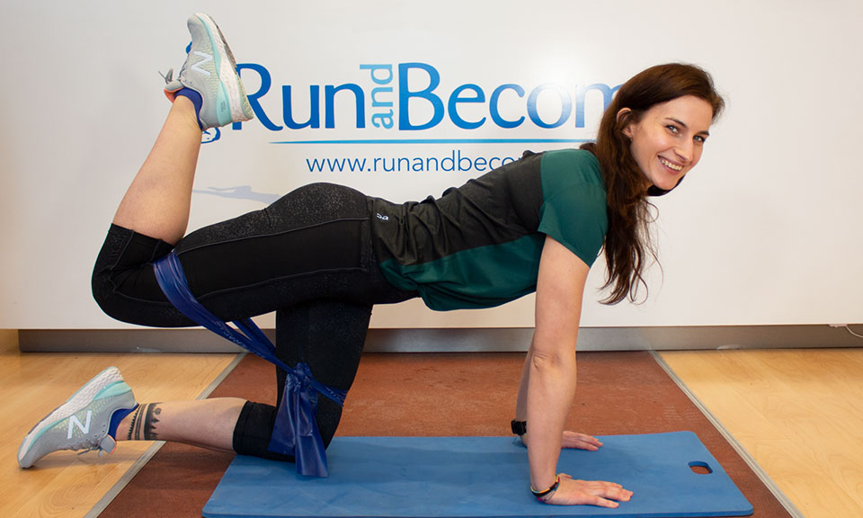Glute Exercises with Bands, for Runners