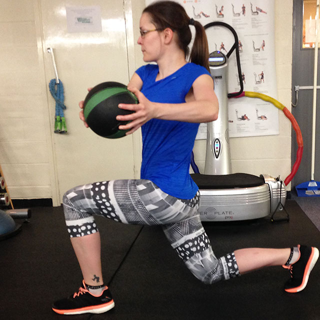 Circuits for Runners: Medicine Ball Lunge with Twist