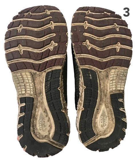 Running shoe soles