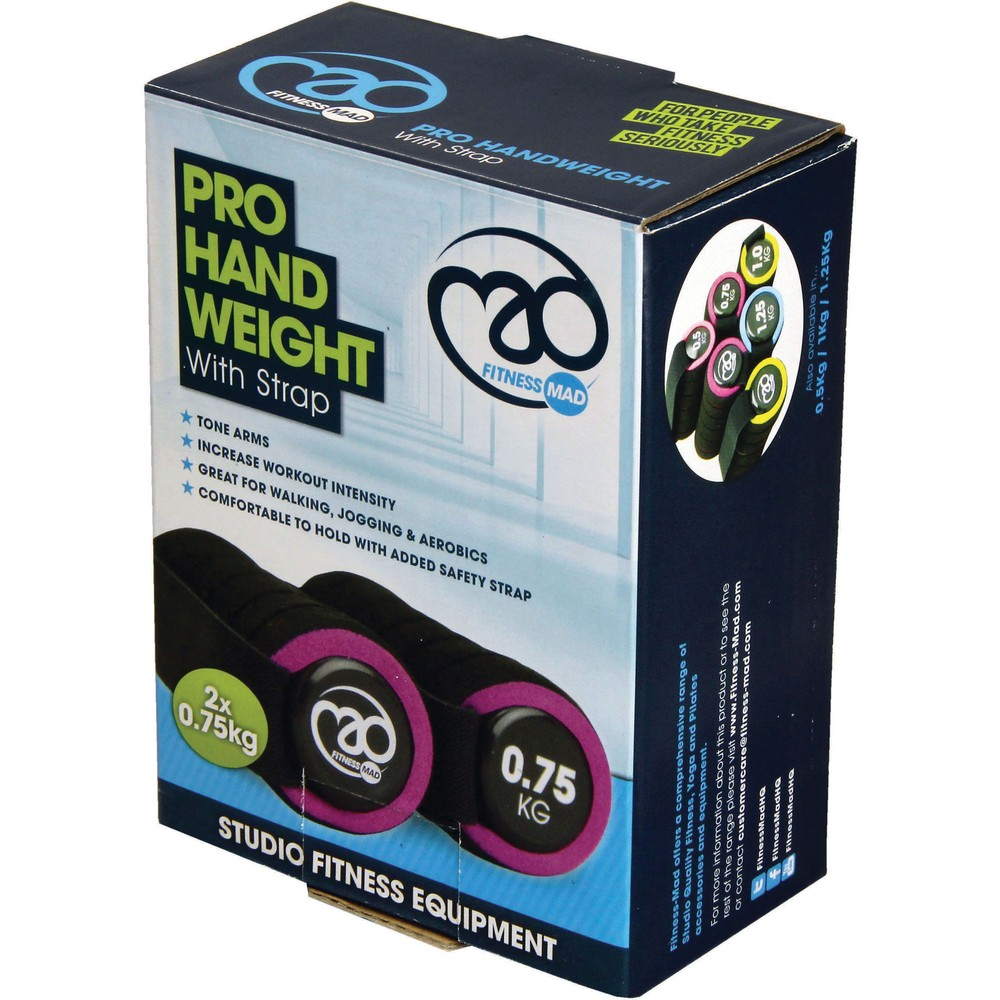 Fitness-Mad Pro Hand Weight With Strap 0.75KG #2