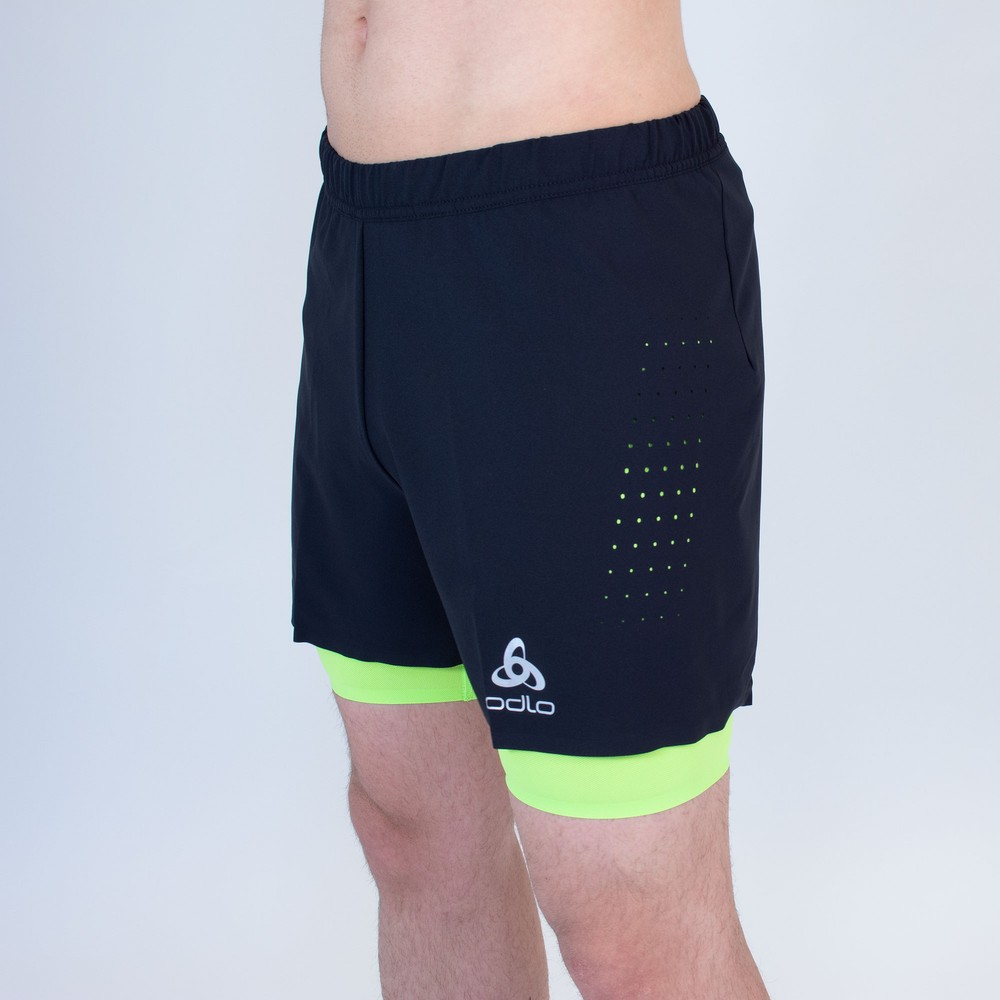 Odlo Zeroweight Twin 5in Shorts #2