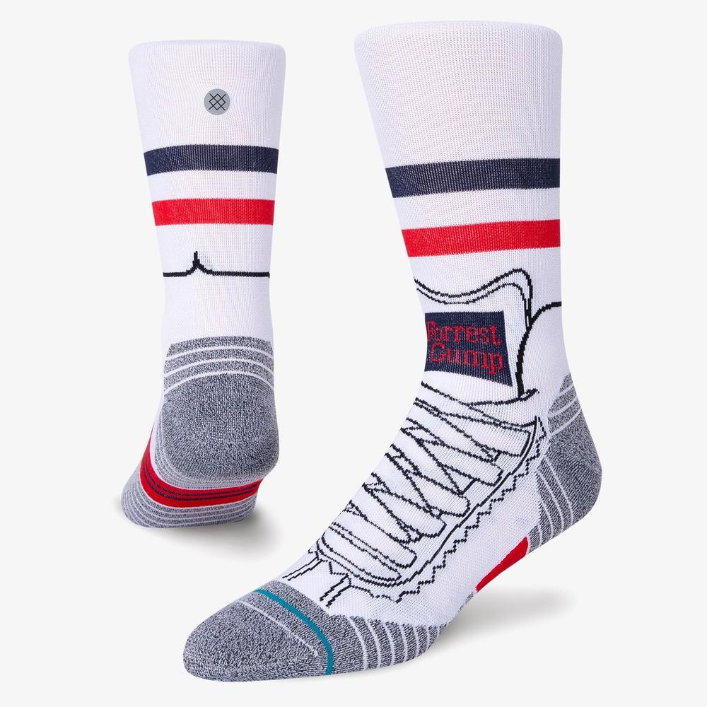 Stance Run Feel 360 With Infiknit Forrest Gump Ultralight Cushion Crew Socks #1