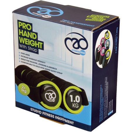 Fitness-Mad Pro Hand Weight With Strap 1Kg #2
