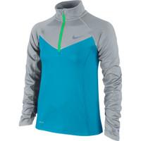 Junior Nike Element Zip Long Sleeve Tee Girls'