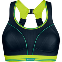 Shock Absorber Ultimate Run Bra Black/lime