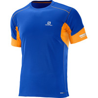 Men's Salomon Agile Short Sleeve Tee Blue
