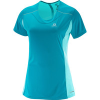 Women's Salomon Agile Short Sleeve Tee Aqua