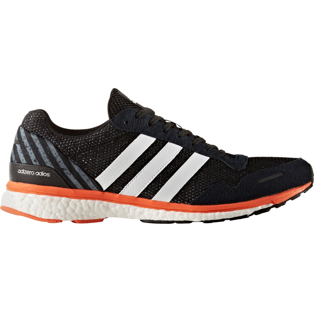 buy men 39 s adidas adizero adios boost 3 in orange run and become specialist running shop. Black Bedroom Furniture Sets. Home Design Ideas