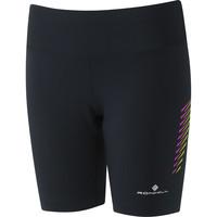 Ronhill Stride Stretch Short Black/purple
