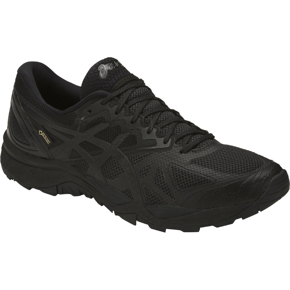 buy women 39 s asics gel fuji trabuco 6 gtx in black run. Black Bedroom Furniture Sets. Home Design Ideas