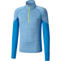 Mizuno Alpha 1/2 Zip Long Sleeve Tee Blue