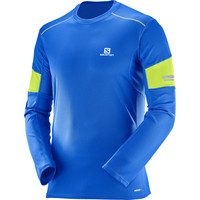 Salomon Agile Long Sleeve Tee Blue