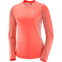 Salomon Agile Long Sleeve Tee Coral