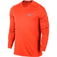 Men's Nike Miler Long Sleeve Tee Orange