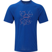 Ronhill Stride Hexagon Tee Blue/orange