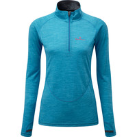 Ronhill Infinity Merino 1/2 Zip Long Sleeve Blue