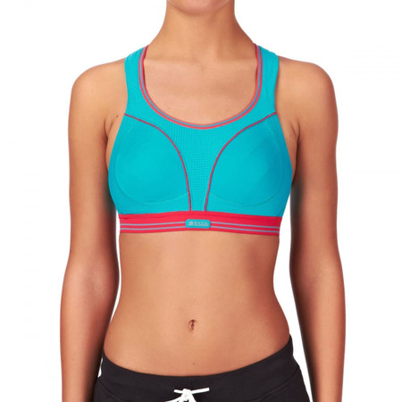 Shock Absorber Ultimate Run Bra Turquoise/Coral #2