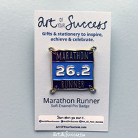 Marathon Runner Enamel Pin Badge