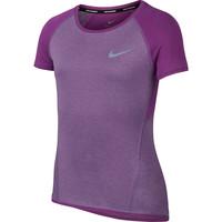 Junior NIKE  Dry Running Short Sleeved Tee Girls Purple