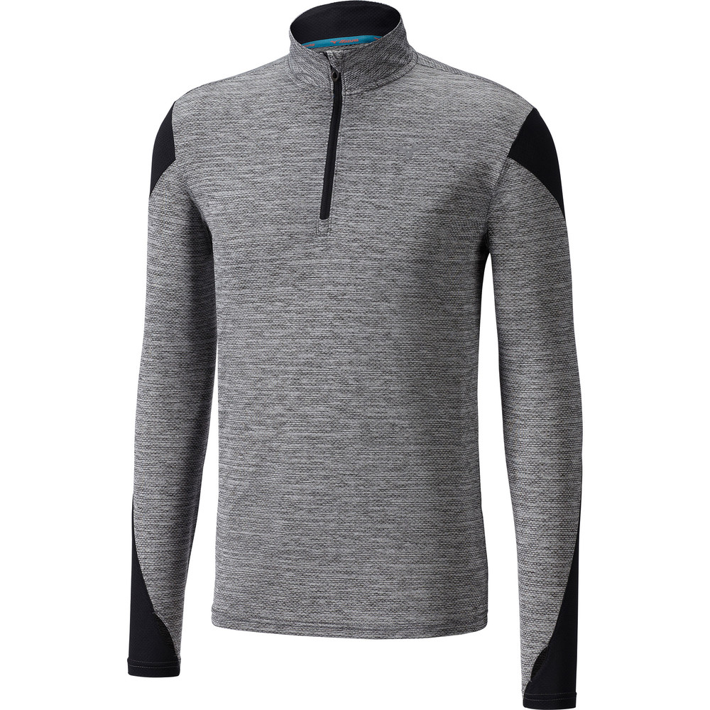 Mizuno Alpha 1/2 Zip Long Sleeve Tee #1