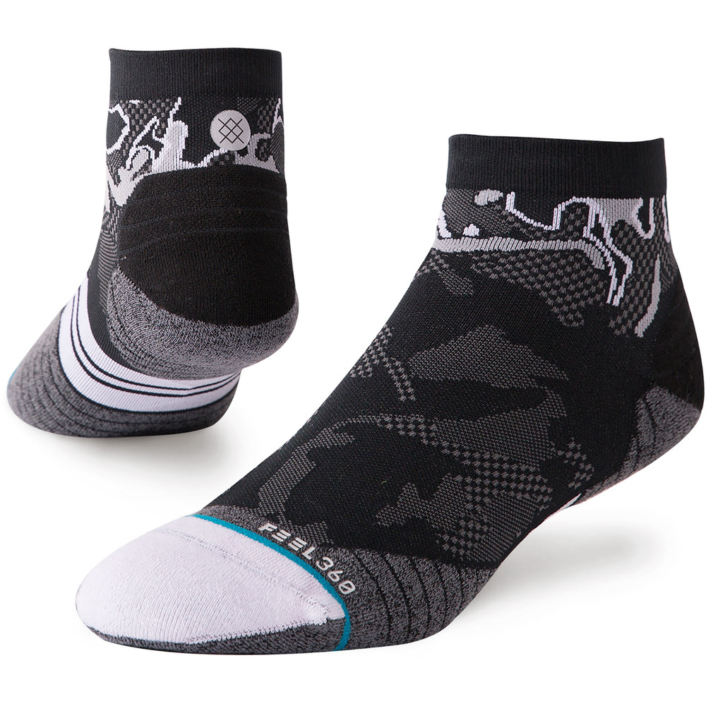 Stance Run Qtr Socks NEW Feel 360 #1