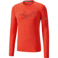 MIZUNO  Impulse Core Graphic Long Sleeve Tee