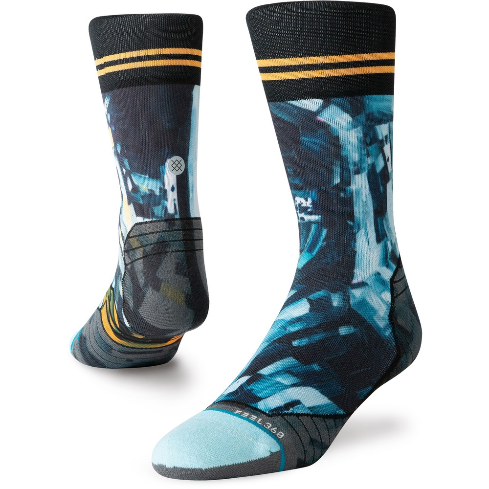 Stance Run Crew Michael Kagan Moon Man Socks #1