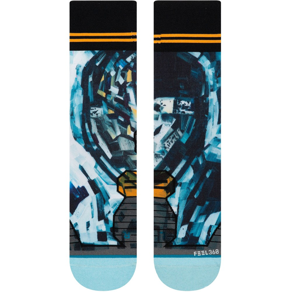 Stance Run Crew Michael Kagan Moon Man Socks #2