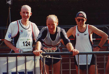 Adrian Stott, Don Ritchie & Wally Hill at the 24hr race, 1996